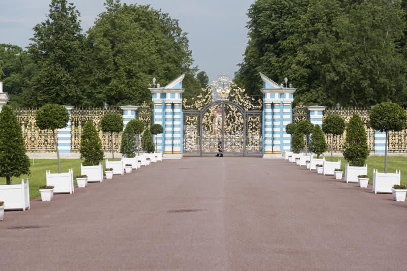 Passage en Catherine Palace St Petersburg Russia photos libres de droits