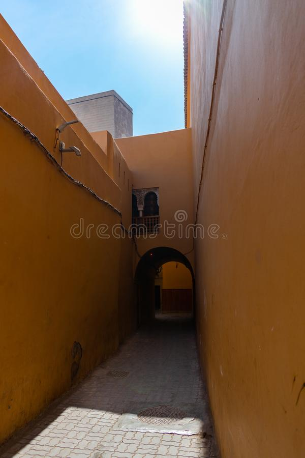 Passage en Médina de Marrakech Maroc images libres de droits