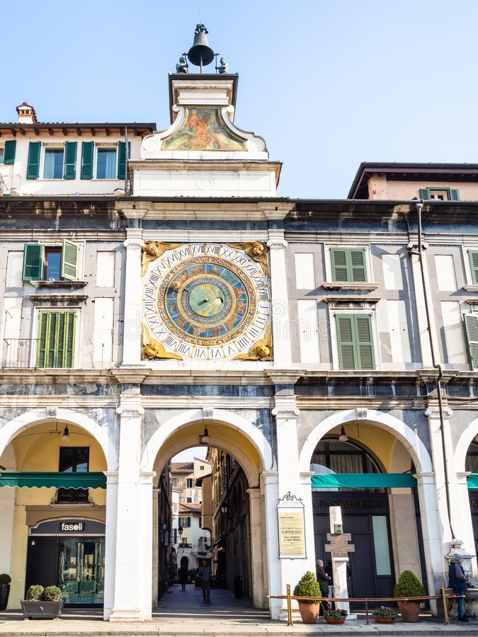 Free Passage In Torre Dell`Orologio On Piazza Loggia Stock Photos - 141892143