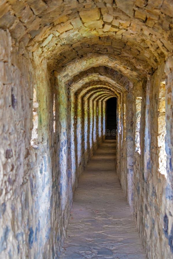 Passage inside the Kamianets-Podilskyi Castle. Ukraine royalty free stock images