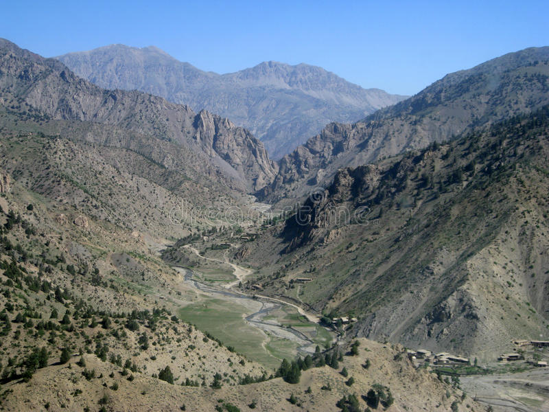 Passage isolé élevé, Afghanistan image libre de droits