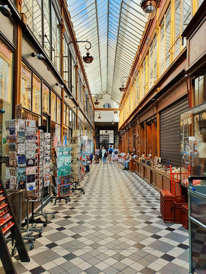Passage Jouffroy, Tourist attraction, Paris, France stock images