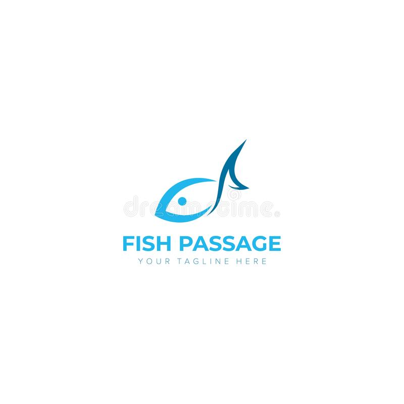Passage Logo Designs de poissons illustration stock