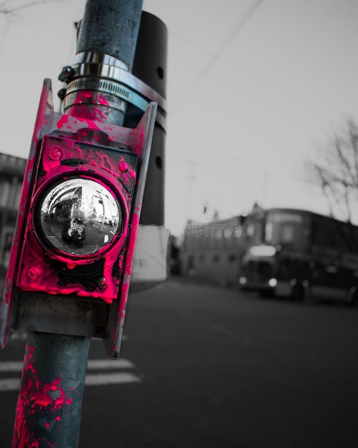 Passage pi?ton dans la ville photographie stock