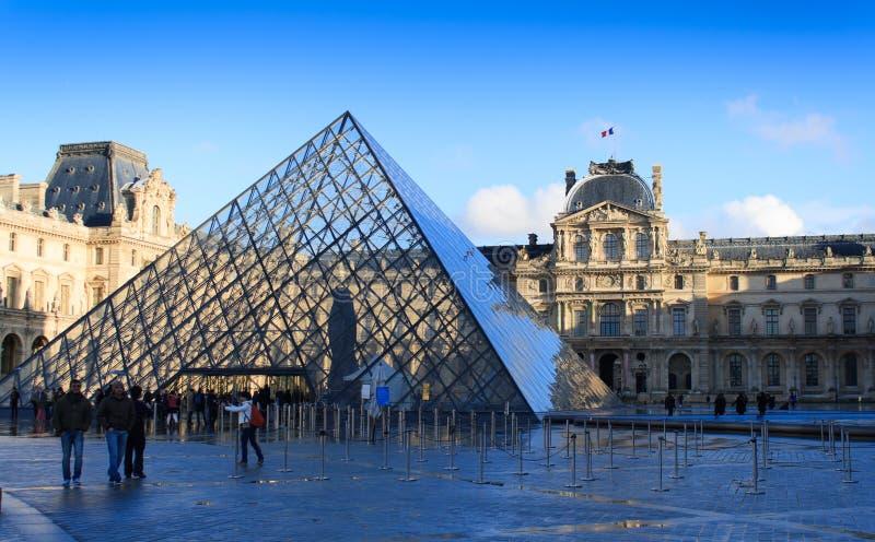 Passage Richelieu i Louvre arkivfoto