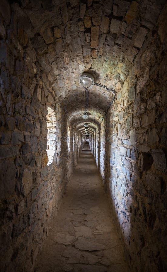 Passage secret dans la forteresse image stock