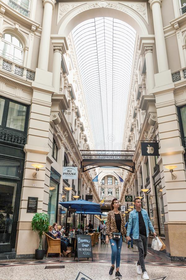 The Passage shopping arcade interior in The Hague stock image