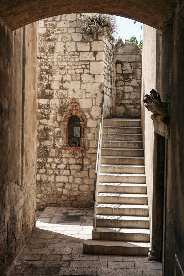 Download Passage with stairs stock photo. Image of mary, altar - 40314200