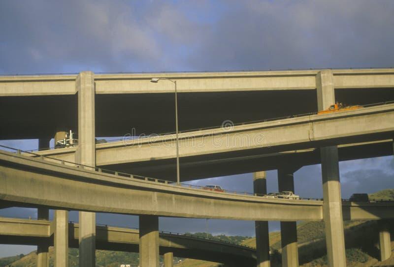 Passage supérieur d'autoroute photographie stock libre de droits