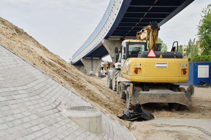 Passage supérieur en construction photo stock