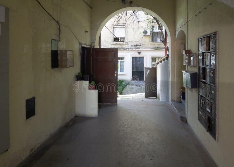 Passage to courtyard in Belgrade stock photos