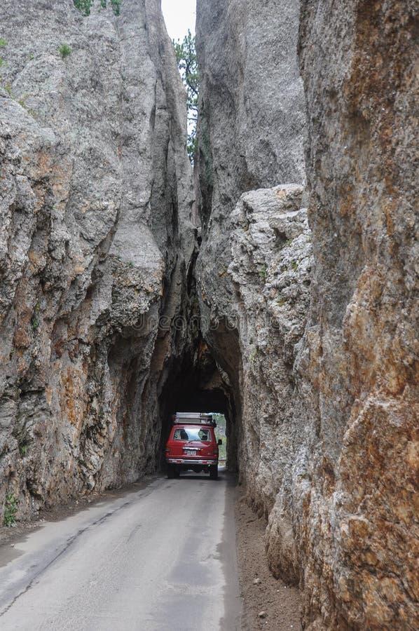 Passage très serré dans la roche, le Dakota du Sud, Etats-Unis photos libres de droits