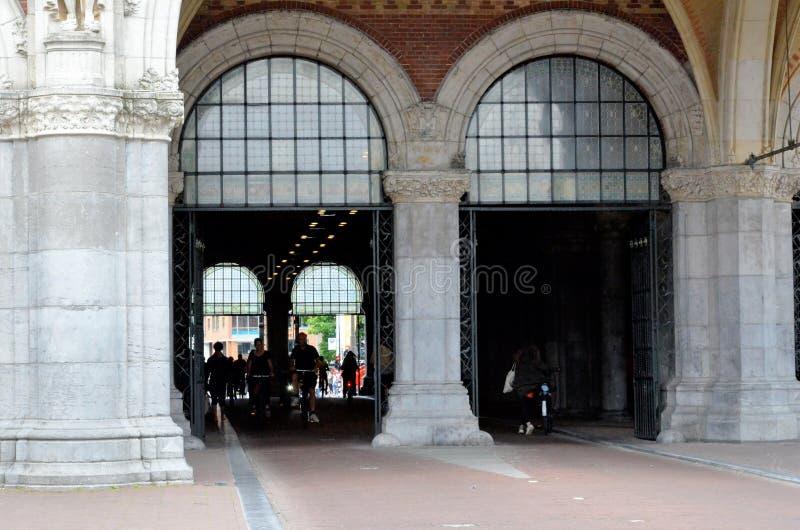 Passage under the Rijksmuseum in Amsterdam stock images
