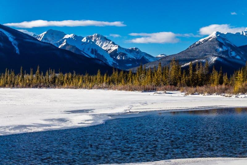 Passage vermeil, parc national de Banff, Alberta, Canada photographie stock