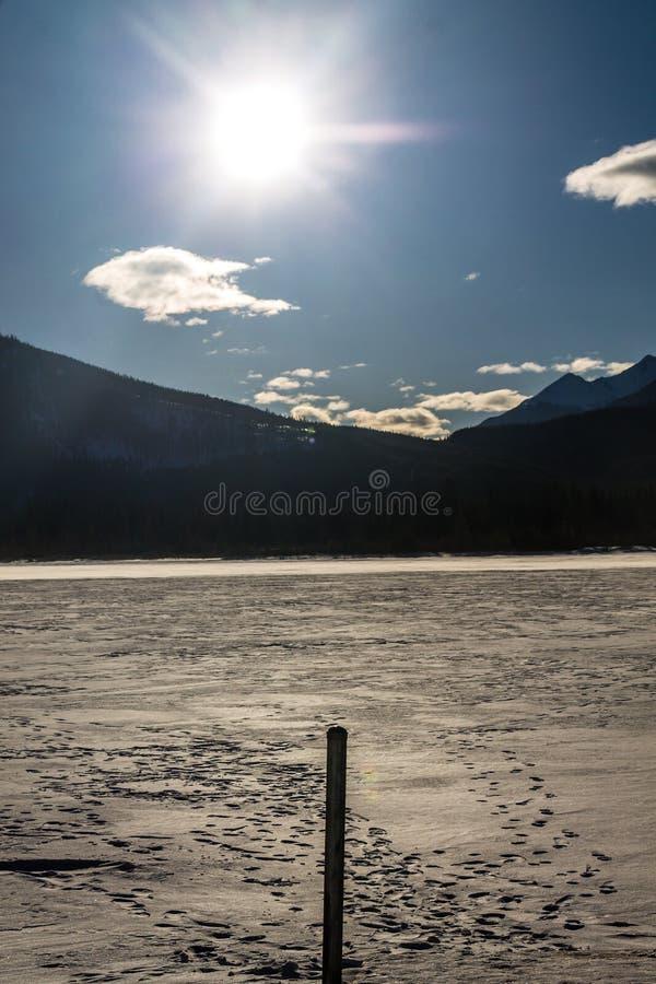 Passage vermeil, parc national de Banff, Alberta, Canada images stock