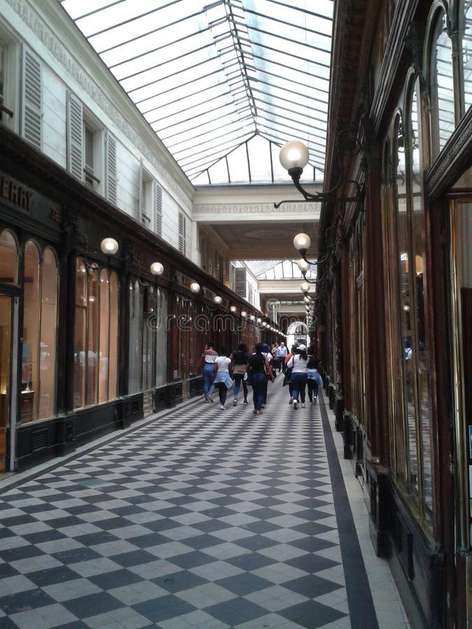 Passage Vero Dodat Paris, Frankrijk stock foto