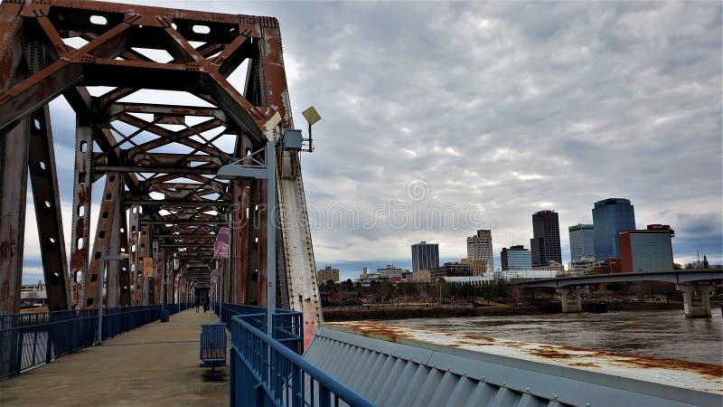 Passage vers Little Rock du centre photo stock