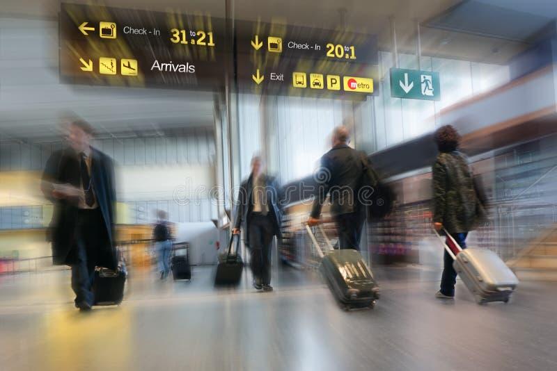 Passageiros da linha aérea foto de stock