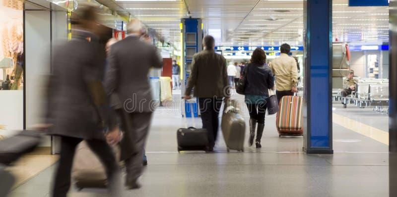 Passageiros do aeroporto imagem de stock royalty free