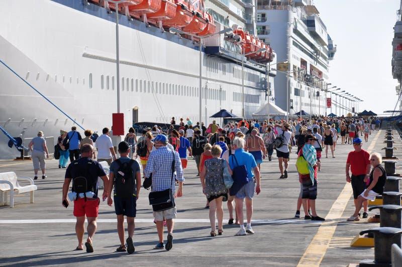 Passageiros do cruzeiro imagem de stock
