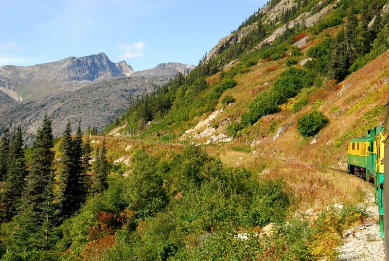 Passagem & estrada de ferro brancas de Yukon foto de stock royalty free