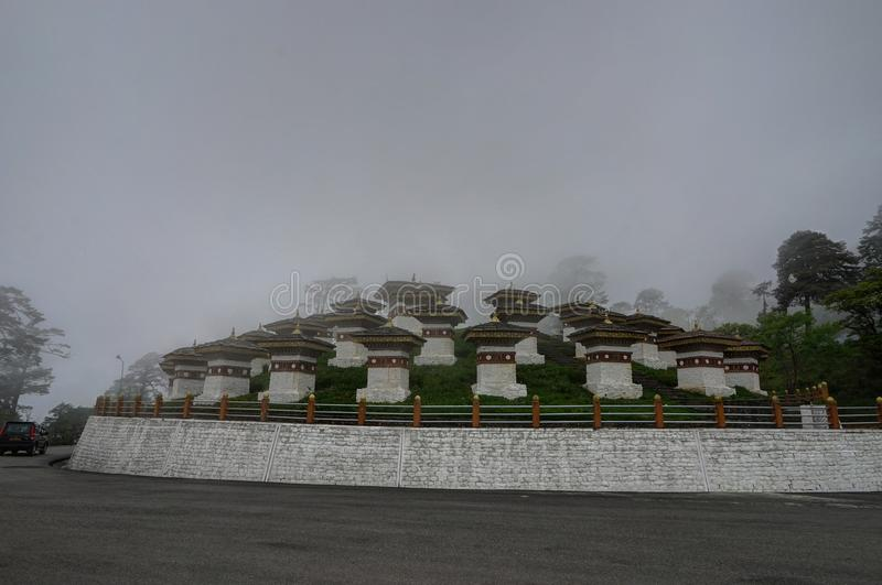 Passagem Butão Himalaya de Dochula imagem de stock