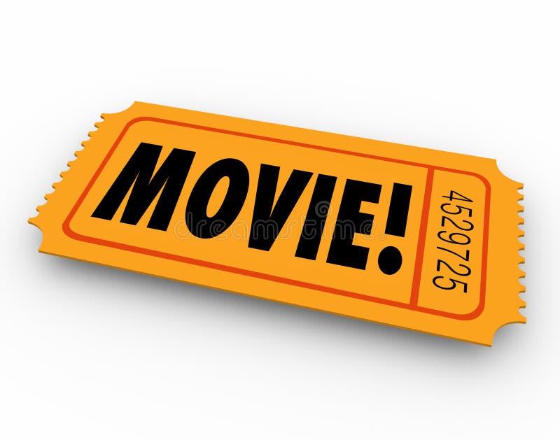 A passagem da admissão do bilhete do filme admite o filme do cinema do acesso ilustração stock
