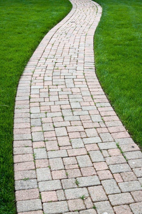 Passagem da cor do tijolo fotografia de stock royalty free