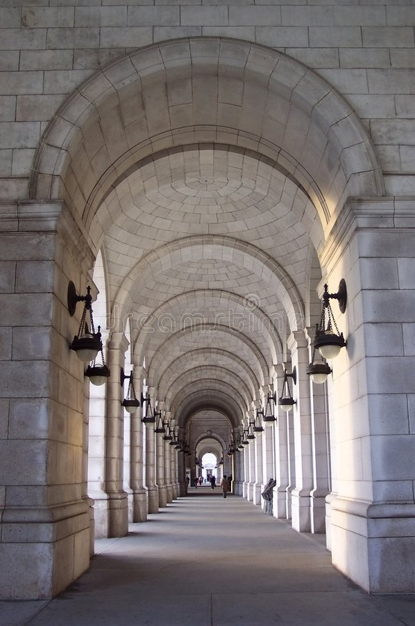 Passagem da estação da união fotos de stock royalty free
