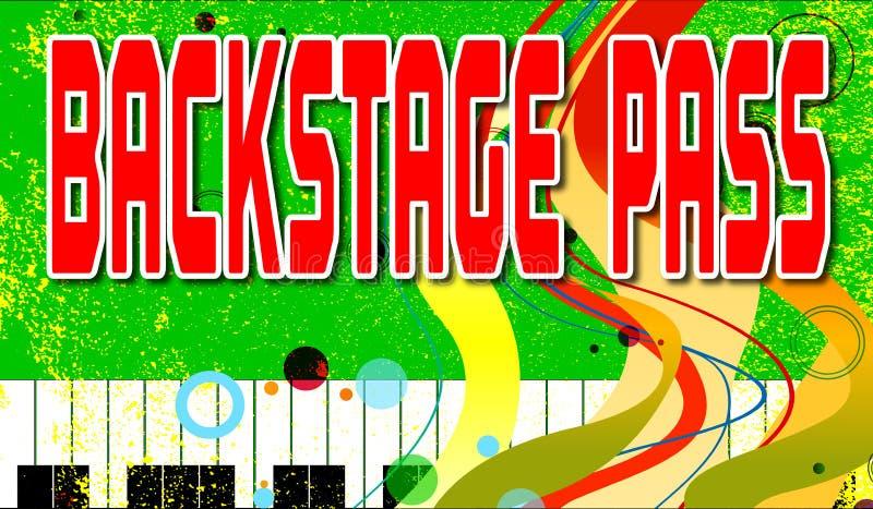 Passagem da fase traseira ao evento musical ilustração stock