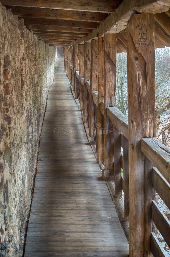 Passagem da parede do castelo imagem de stock royalty free