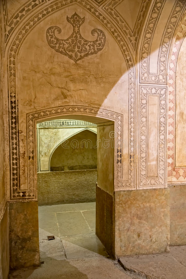 Passagem da sala de Shiraz Citadel fotografia de stock