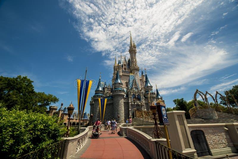 Passagem de Disney Orlando a fortificar imagem de stock royalty free