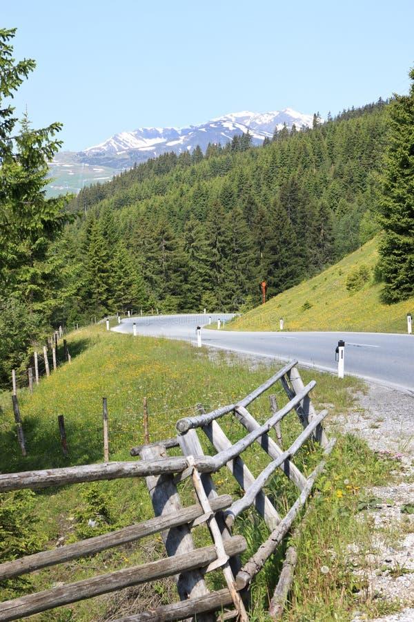 Passagem de Gerlos, uma estrada com pedágio em Áustria fotografia de stock