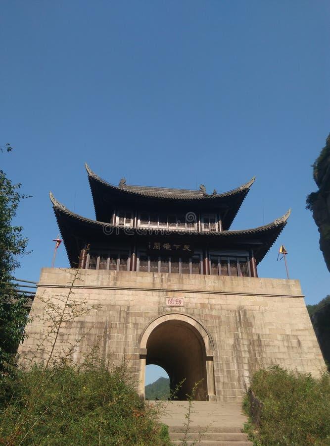 Passagem de Jianmen fotografia de stock