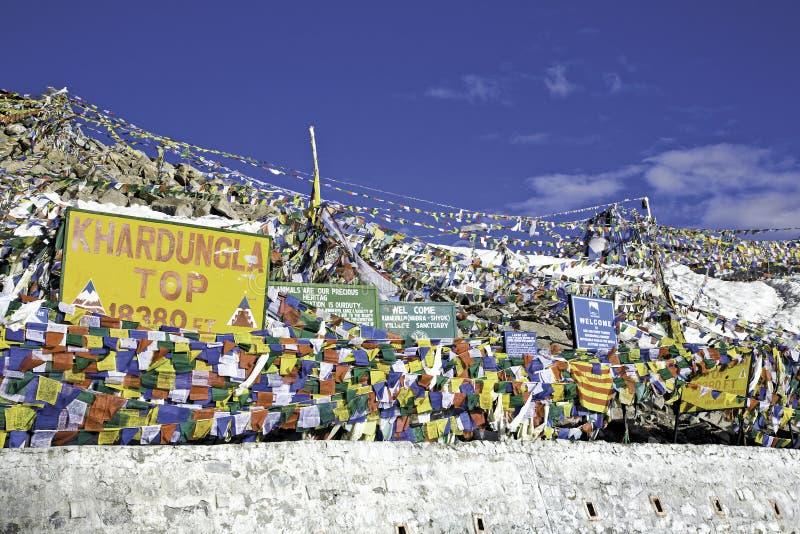 Passagem de KhardungLa, Ladakh fotos de stock royalty free