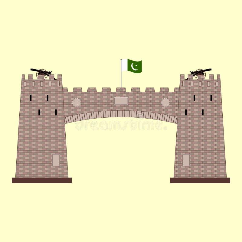 Passagem de Khyber em Paquistão ilustração royalty free