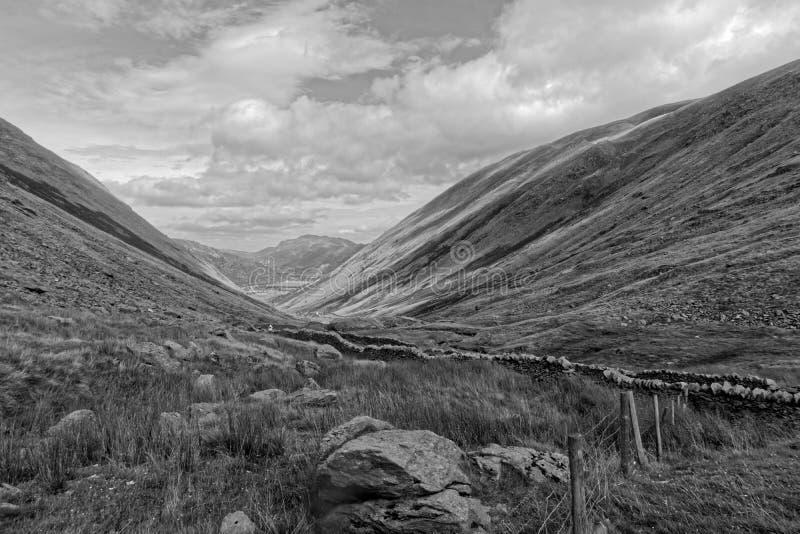 Passagem de Kirkstone no distrito inglês do lago fotografia de stock royalty free