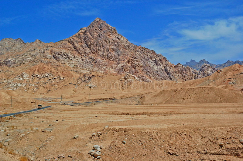 Passagem de montanha de China Kunlun imagem de stock royalty free