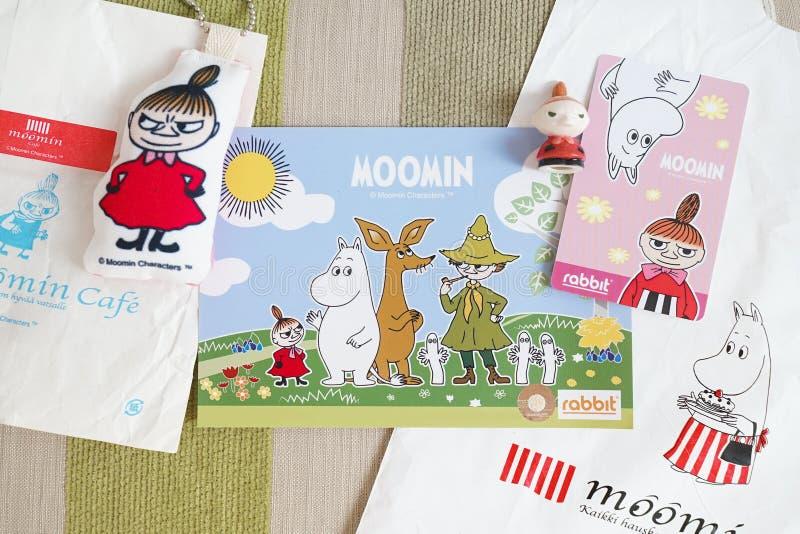 Passagem de Moomin Skytrain imagens de stock royalty free