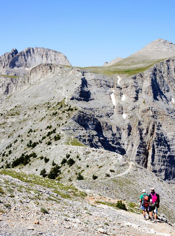 Passagem de Olympus da montanha em Grécia foto de stock