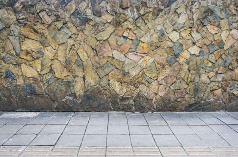 Passagem de pedra da textura para a foto do fundo fotografia de stock