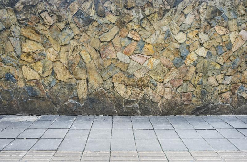 Passagem de pedra da textura para a foto do fundo foto de stock royalty free