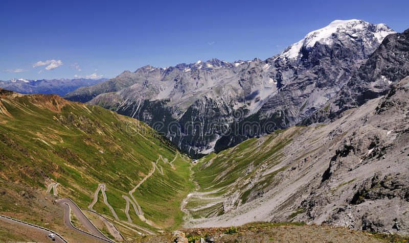 Passagem de Stelvio e Ortler, Italia fotografia de stock royalty free