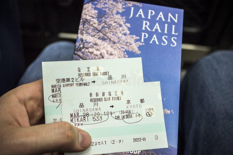 Passagem de trilho de Japão fotografia de stock royalty free