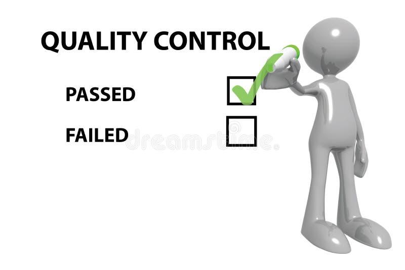 Passagem do controle da qualidade ilustração stock