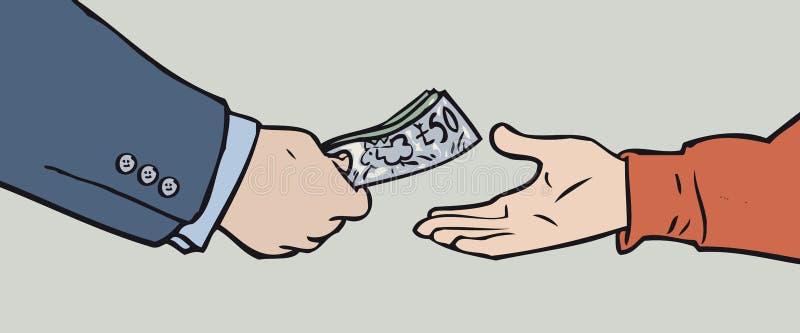 Passagem do dinheiro ilustração royalty free