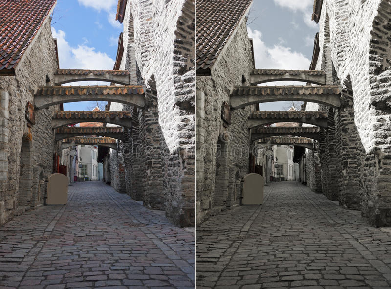 Passagem do St. Catherine em Tallinn, Estónia foto de stock royalty free