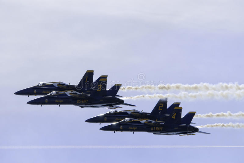 Passagem dos anjos azuis fotografia de stock