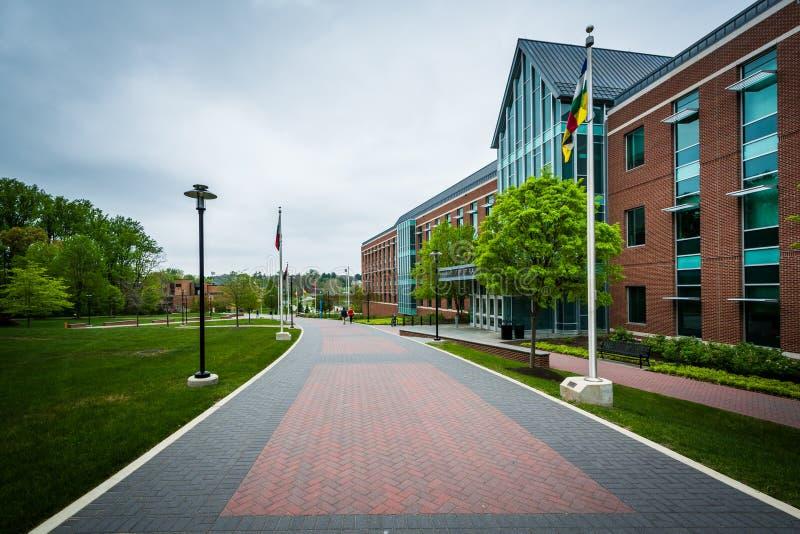 Passagem e a faculdade das humanidades, na universidade de Towson, i fotografia de stock royalty free